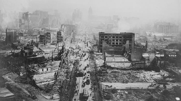 Filme hallado en un mercadillo muestra San Francisco en ruinas tras el terremoto de 1906