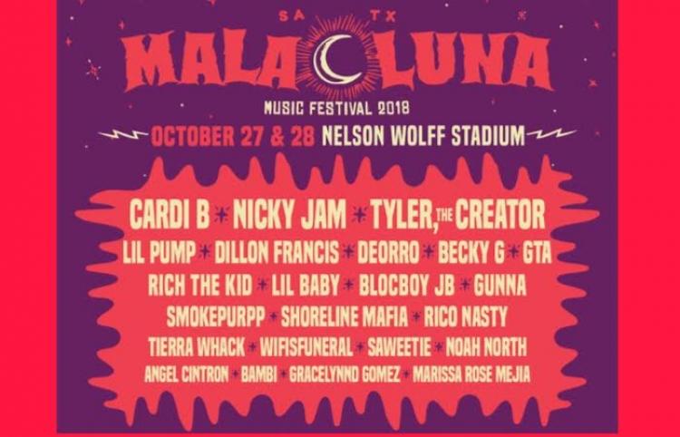 Cardi B, Nicky Jam, Tyler, The Creator, Lil Pump y más en el Lineup de Mala Luna 2018