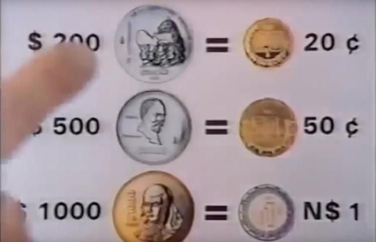 'Los nuevos pesos' Así publicitaron el cambio de monedas en México (1992)