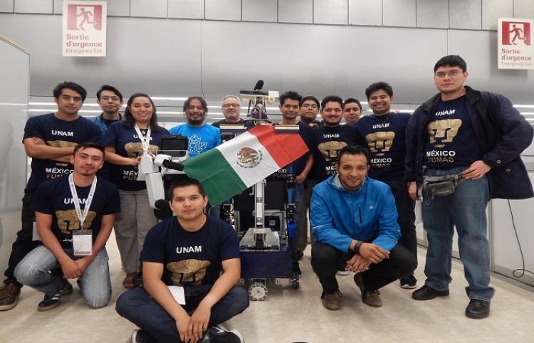 Equipos de la UNAM ganan segundo lugar en Robocup 2018