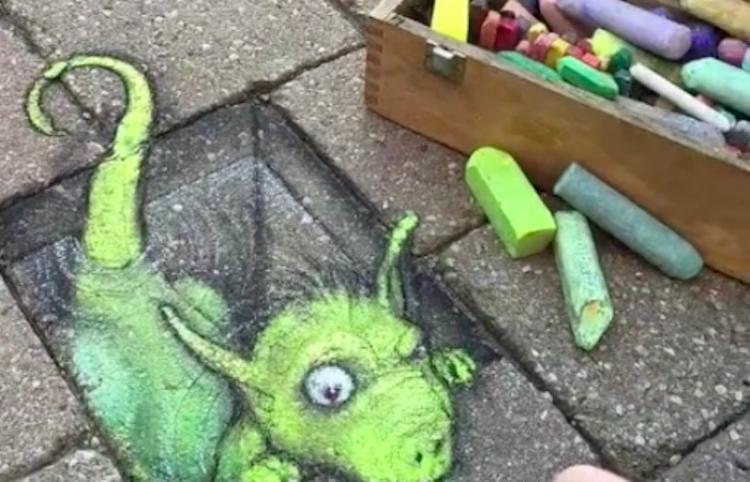 Conoce a David Zinn, el artista que hace increíbles figuras 3D en la calle