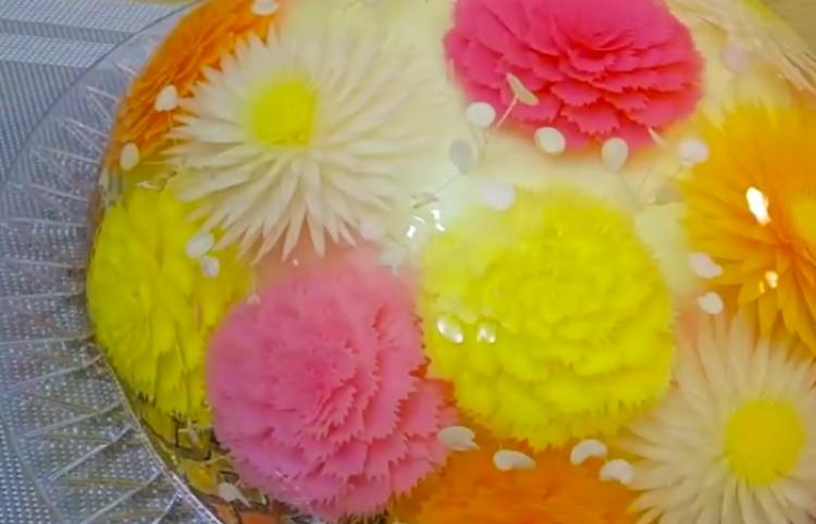 Ve como se realiza un verdadero arte comestible con gelatina