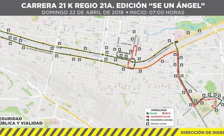 """Monterrey anuncia cierres viales por Carrera """"Sé un Ángel"""""""