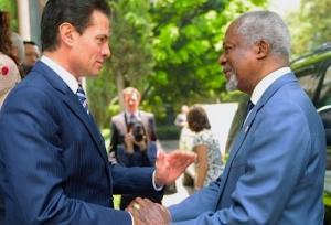 Peña Nieto destaca acompañamiento de Kofi Annan al proceso electoral
