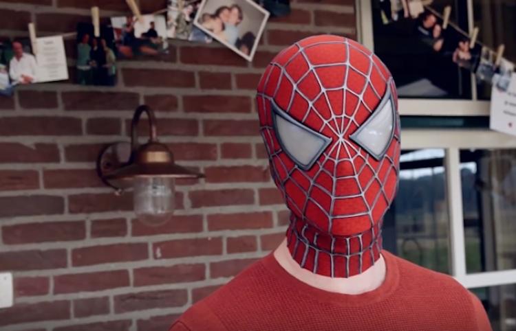 Recrea la mascara del Hombre Araña - Tobey Maguire -