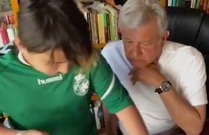 VIDEO: López Obrador difunde video conviviendo con su hijo