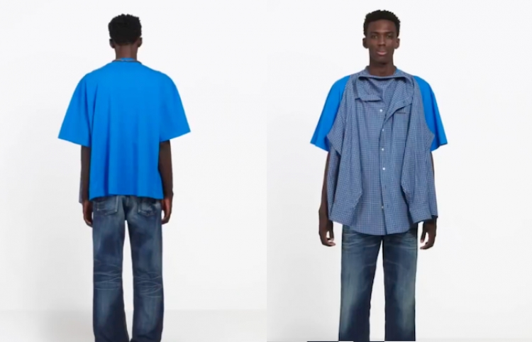 Esta ridícula camiseta doble de Balenciaga cuesta solo $1290 dólares