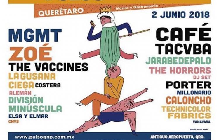 Grupos MGMT, The Vaccines y Jarabedepalo actuarán en Festival Pulso GNP