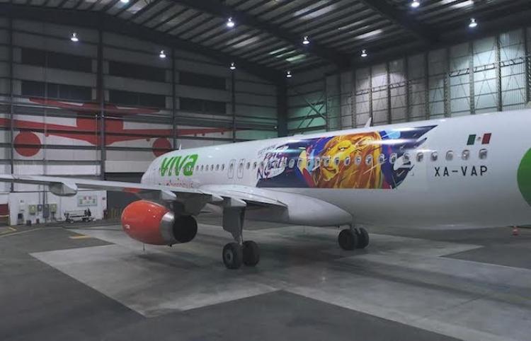 """Presenta Viva Aerobús el avión """"Pa'l Norte"""""""