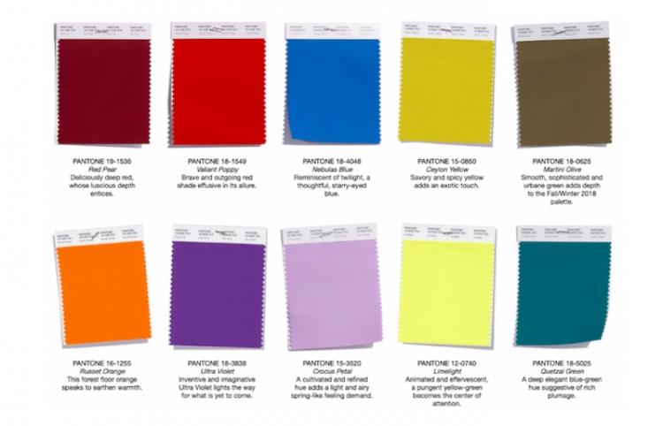 Colores para estar en tendencia en otoño invierno 2018