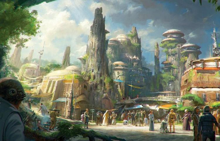 VIDEO: La galaxia de Star Wars en Disney, empieza a tomar forma