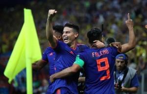 """Con autoridad Colombia vence 3-0 a Polonia y aspira a """"octavos"""" en Rusia"""