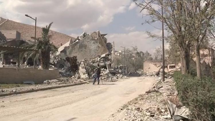 Primeras imágenes desde uno de los objetivos del ataque de EE.UU. a Siria
