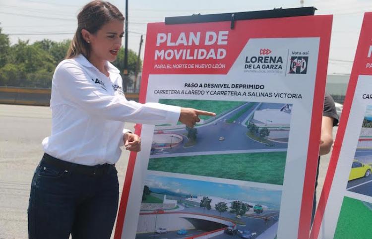 Presenta Lorena de la Garza plan de movilidad para la zona norte