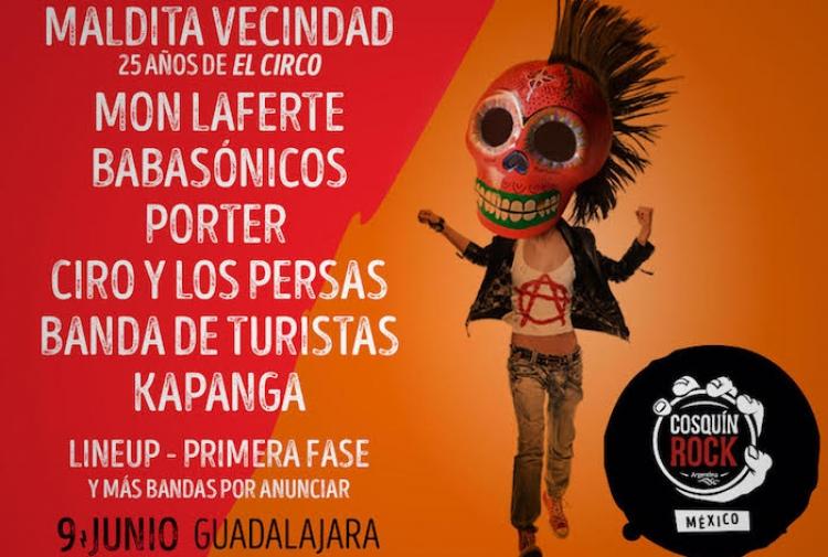 ¡¡¡ Cosquin Rock México Regresa con su 2da edición en Guadalajara !!!