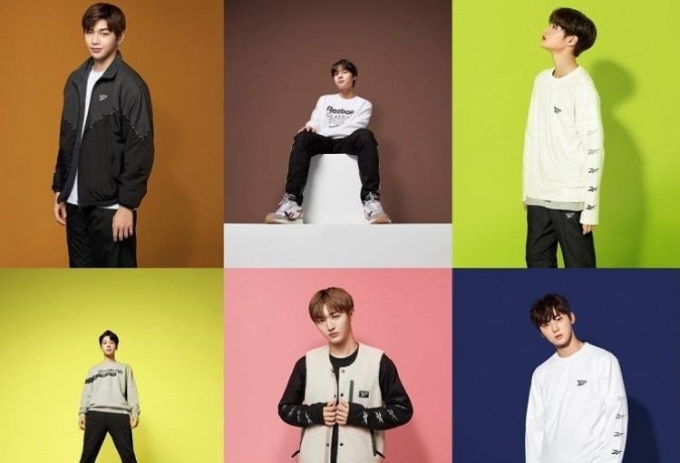 La banda de K-pop Wanna One se une a Reebok