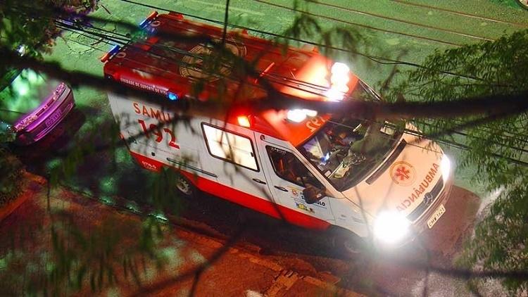 l momento exacto en que un helicóptero robado por un delincuente se estrella en Brasil