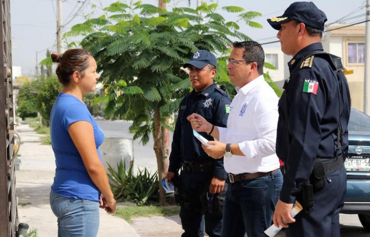 "Refuerzan Seguridad en Santa Catarina; Operativo ""Policía Contigo"""