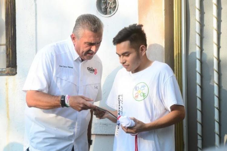 César Garza anuncia trabajo y apoyo hacia los jóvenes en Apodaca