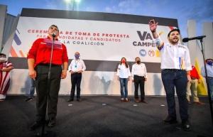 """Christian Castro rinde protesta como candidato de la coalición """"Va por Campeche"""" a la gubernatura"""