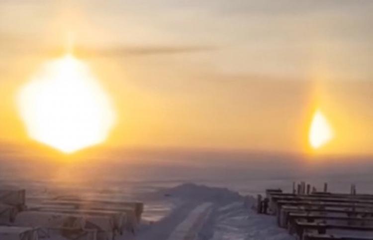 Filman tres soles en Siberia