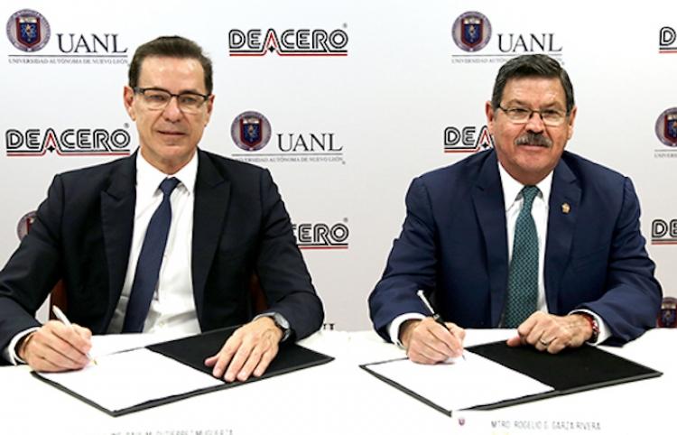 UANL y DeAcero firman convenio de colaboración