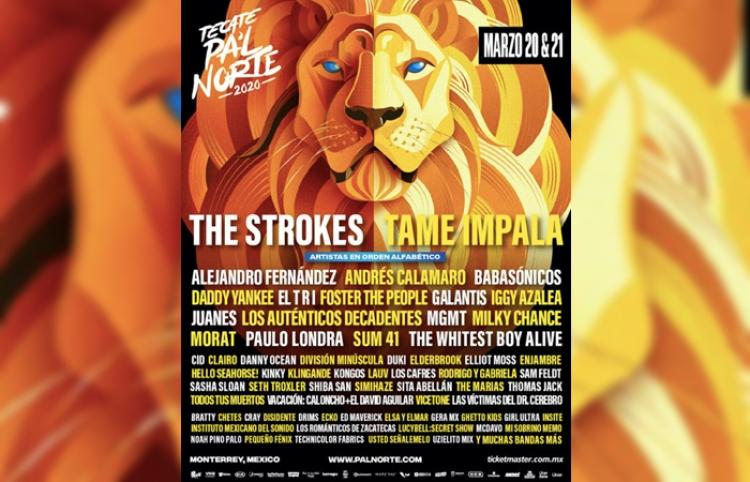 The Strokes, Tame Impala, Alejandro Fernández, Daddy Yankee y más en el Lineup de Pa´l Norte 2020