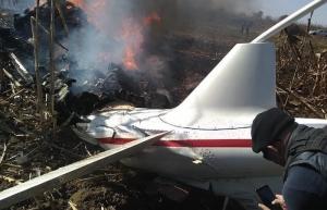 Sigue investigación sobre caída de helicóptero en Puebla: SCT