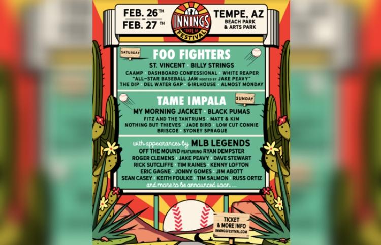 Foo Fighters y Tame Impala encabezarán Innings Festival 2022
