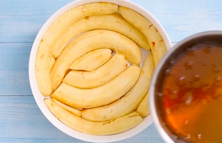 Así se hace un pastel boca abajo de plátano