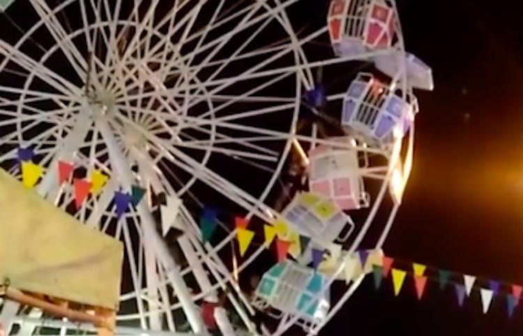 Pánico en un Ferris de Indonesia, después de extraño accidente