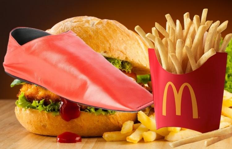 McDonald's se burla de zapatos Balenciaga, por ser parecidos a las cajas de papas