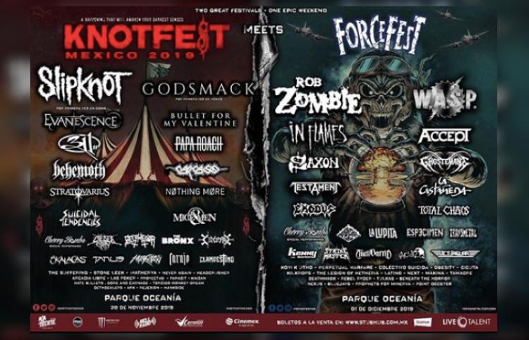 Knotfest y Force Fest anuncian su Lineup final