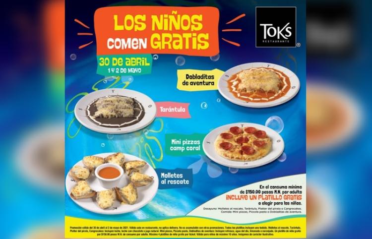 Toks celebrará a los niños en su día con platillos gratis