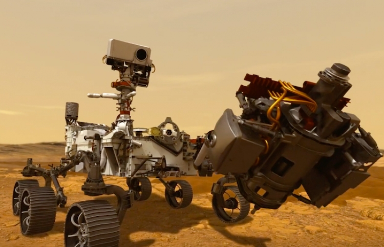 Robot Perseverance da su primer paseo por la superficie de Marte