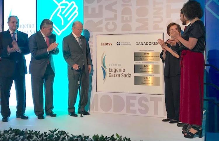 Reconoce FEMSA y el Tecnológico de Monterrey el liderazgo social; Entregan Premio Eugenio Garza Sada 2019