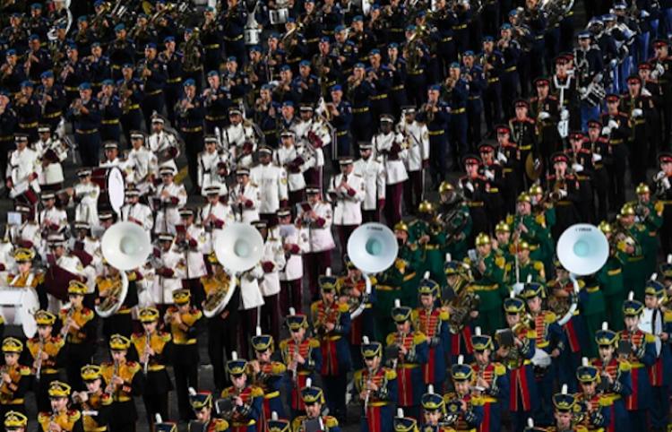 Banda de música del Ejército mexicano participa en Festival Internacional de Moscú