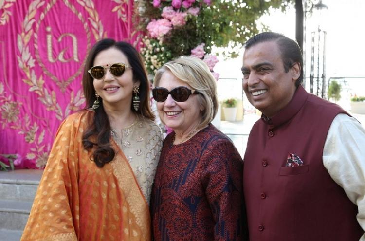 Los VIP llegan boda de la hija del hombre más rico de la India