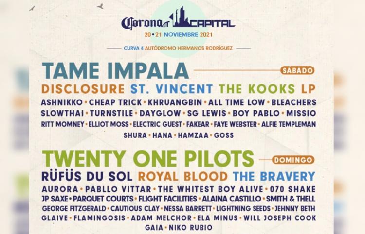 Corona Capital 2021 revela su lineup