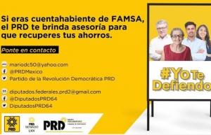 PRD anuncia que ayudará a los cuentahabiente de FAMSA